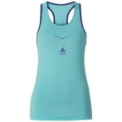 Odlo Koszulka tech. Odlo Ceramicool Singlet crew neck - 160231 - 160231L. Niebieskie topy sportowe damskie marki Odlo, l. Za 107,95 zł.