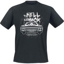 T-shirty męskie z nadrukiem: Supernatural To Hell And Back T-Shirt czarny