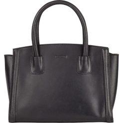 Torebki klasyczne damskie: Skórzana torebka w kolorze czarnym – 30 x 23 x 12 cm