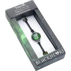 Blackheart Sternzeichen Stier Bransoletka zielony. Zielone bransoletki damskie sznurkowe marki Blackheart. Za 42,90 zł.