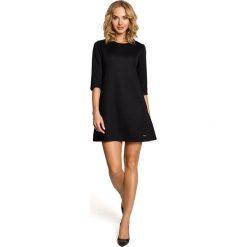 Tuniki damskie eleganckie: Trapezowa tunika – czarna