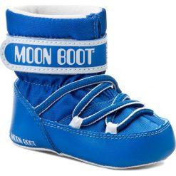Buty zimowe chłopięce: Śniegowce MOON BOOT – Crib 34010100004 Lt Blue