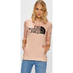 The North Face - Bluza. Szare bluzy z kieszeniami damskie The North Face, l, z nadrukiem, z bawełny, z kapturem. Za 329,90 zł.
