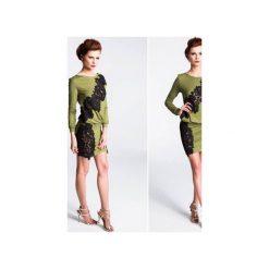 SUKIENKA APRILIA. Zielone sukienki dzianinowe Anna solan, na co dzień, m, w koronkowe wzory, wizytowe. Za 359,00 zł.