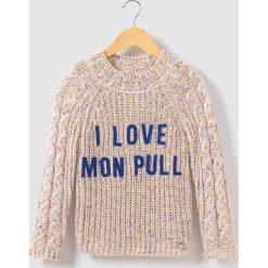 """Swetry dziewczęce: Sweter ze stójką, z napisem """"I Love"""", 3-14 lat"""