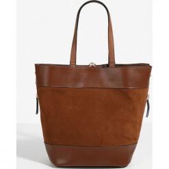 Parfois - Torebka /plecak. Szare shopper bag damskie Parfois, w paski, z materiału, do ręki, duże, zamszowe. Za 139,90 zł.