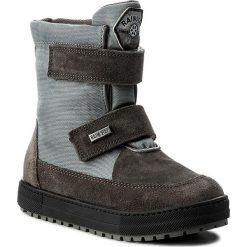 Śniegowce NATURINO - Gange 0013001220.01.9102 Antracite. Szare buty zimowe chłopięce Naturino, z materiału. W wyprzedaży za 309,00 zł.