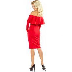 Sofia Sukienka hiszpanka z DŁUGIM rękawkiem - CZERWONA. Czerwone sukienki hiszpanki numoco, s, z materiału, z dekoltem typu hiszpanka, z długim rękawem. Za 125,46 zł.