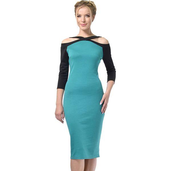 be1ec0d2 Sukienka w kolorze turkusowo-czarnym