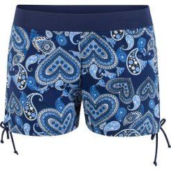 Szorty kąpielowe bonprix niebieski z nadrukiem. Niebieskie bikini bonprix, z nadrukiem. Za 74,99 zł.
