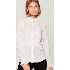 Koszula z wiskozy Gold Label - Kremowy. Białe koszule damskie marki Mohito, z wiskozy. Za 119,99 zł.