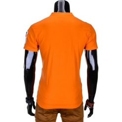 T-SHIRT MĘSKI BEZ NADRUKU S665 - POMARAŃCZOWY. Szare t-shirty męskie z nadrukiem marki Ombre Clothing, m, z bawełny, ze stójką. Za 35,00 zł.