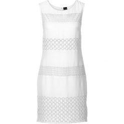 Sukienki: Sukienka z koronkowymi wstawkami bonprix biały