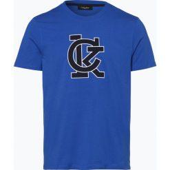 Calvin Klein - T-shirt męski – Jale, niebieski. Pomarańczowe t-shirty męskie marki Calvin Klein, l, z bawełny, z okrągłym kołnierzem. Za 169,95 zł.