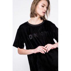 Dkny - Koszula piżamowa. Szare koszule nocne i halki DKNY, m, z poliesteru, z okrągłym kołnierzem. W wyprzedaży za 239,90 zł.