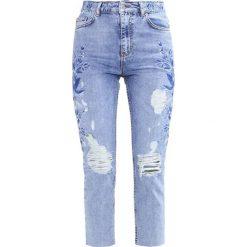 Topshop Jeansy Slim fit blue. Niebieskie rurki damskie Topshop. W wyprzedaży za 237,30 zł.