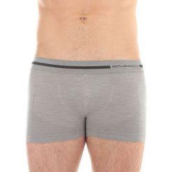 Bokserki męskie: Brubeck Bokserki męskie Comfort Wool szare r. S (BX10430)