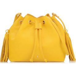 Torebka damska. Żółte torebki klasyczne damskie Ochnik, w paski, ze skóry, małe. Za 299,90 zł.