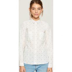 Bawełniana koszula z wzorem - Biały. Białe koszule damskie marki Sinsay, m, z bawełny. Za 49,99 zł.