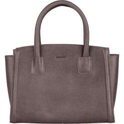 Torebki klasyczne damskie: Skórzana torebka w kolorze szarym – 30 x 23 x 12 cm