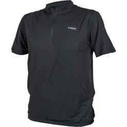 Koszulka rowerowa w kolorze czarnym. Czarne koszulki sportowe męskie Ciepło i przytulnie, m, z nadrukiem, z tkaniny. W wyprzedaży za 49,00 zł.