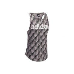 Koszulka Gym z nadrukiem. Szare bluzki sportowe damskie marki Adidas, xl, z nadrukiem. W wyprzedaży za 69,99 zł.