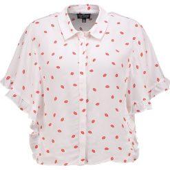 Koszule wiązane damskie: Topshop Petite LIP KATY Koszula cream