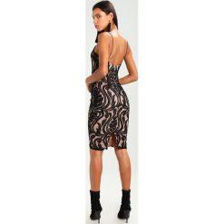 Sukienki hiszpanki: Missguided BAROQUE PLACED MIDI DRESS Sukienka koktajlowa black