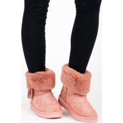 MUKLUKI Z FRĘDZLAMI Genesis. Czerwone buty zimowe damskie BELLA PARIS. Za 78,90 zł.