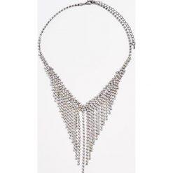 Naszyjnik z kryształkami - Wielobarwn. Szare naszyjniki damskie Mohito. W wyprzedaży za 29,99 zł.