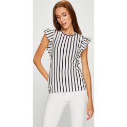 Answear - Top Stripes Vibes. Szare topy damskie ANSWEAR, l, z bawełny, z okrągłym kołnierzem. W wyprzedaży za 54,90 zł.