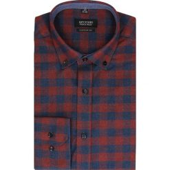Koszula bexley f2483 długi rękaw custom fit bordo. Brązowe koszule męskie jeansowe marki Recman, m, button down, z długim rękawem. Za 49,99 zł.