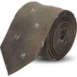 Krawat platinum brąz classic 212. Szare krawaty męskie Recman. Za 49,00 zł.