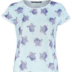 Outer Vision I-Scream Bunch Koszulka damska wielokolorowy. Szare bluzki asymetryczne Outer Vision, s, z nadrukiem, z okrągłym kołnierzem, z krótkim rękawem. Za 54,90 zł.