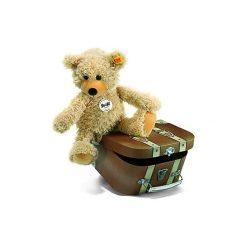 Steiff  Maskotka Miś Charly z kuferkiem 30 cm. Czarne przytulanki i maskotki marki Tm Toys, z tkaniny. Za 168,00 zł.