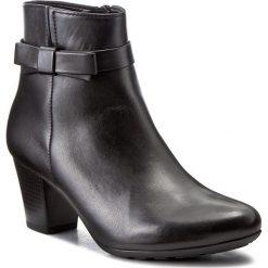 Botki GABOR - 76.582.57 Schwarz. Czarne buty zimowe damskie Gabor, z polaru, na obcasie. W wyprzedaży za 299,00 zł.