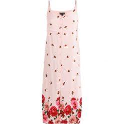 Długie sukienki: Topshop BORDER FLORAL SLIP  Długa sukienka nude