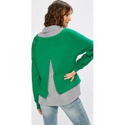Answear - Bluza. Szare bluzy damskie ANSWEAR, uniwersalny, z bawełny, bez kaptura. W wyprzedaży za 69,90 zł.