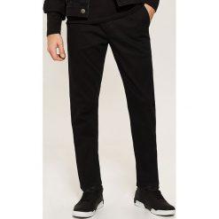 Chinosy męskie: Spodnie CHINO - Czarny