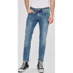 Tommy Jeans - Jeansy Scanton. Niebieskie rurki męskie Tommy Jeans, z bawełny. W wyprzedaży za 299,90 zł.