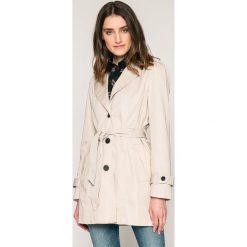 Vero Moda - Płaszcz. Szare płaszcze damskie pastelowe Vero Moda, m, w paski, z bawełny. W wyprzedaży za 99,90 zł.