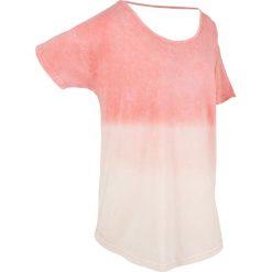 T-shirty damskie: T-shirt batikowy, krótki rękaw bonprix jasny koralowy