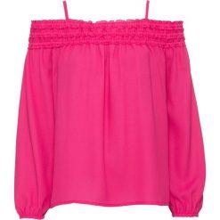"""Tunika z dekoltem """"carmen"""": must have bonprix różowy. Czerwone tuniki damskie z długim rękawem bonprix, z kołnierzem typu carmen. Za 37,99 zł."""