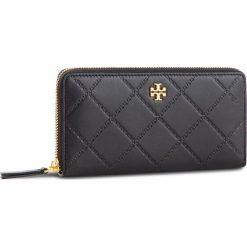 Duży Portfel Damski TORY BURCH - Georgia Zip Continental Wallet 39962 Black 001. Czarne portfele damskie Tory Burch, ze skóry. Za 999,00 zł.