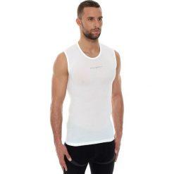 Koszulki sportowe męskie: Brubeck Koszulka męska base layer bez rękawów biała r. L (SL10100)