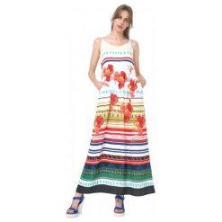 Desigual Sukienka Damska Sofia 42 Wielokolorowy. Szare sukienki marki Desigual, l, z tkaniny, casualowe, z długim rękawem. W wyprzedaży za 279,00 zł.
