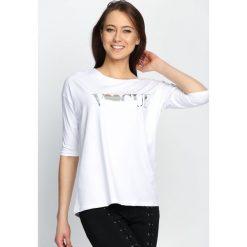 Bluzki asymetryczne: Biała Bluzka Worship Fashion