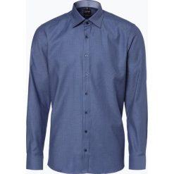 Koszule męskie na spinki: Olymp Level Five - Koszula męska łatwa w prasowaniu, niebieski