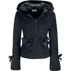 Bluzy rozpinane damskie: Poizen Industries Alice Hood Bluza z kapturem rozpinana czarny