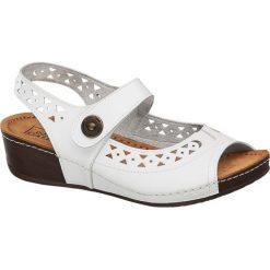 Rzymianki damskie: sandały damskie Easy Street białe